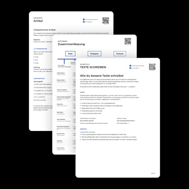 Drei PDFs übereinander